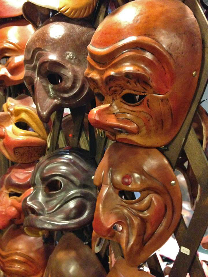 Carlo Setti, leather masks for actors of the Commedia dell'Arte