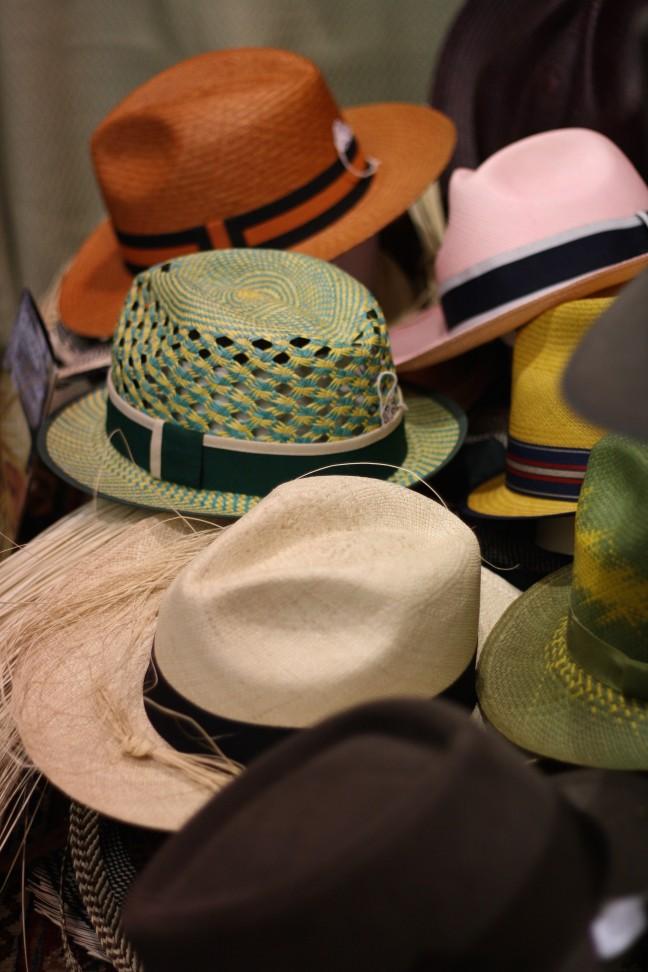 Hats in Giuliana Longo's atelier in Venice
