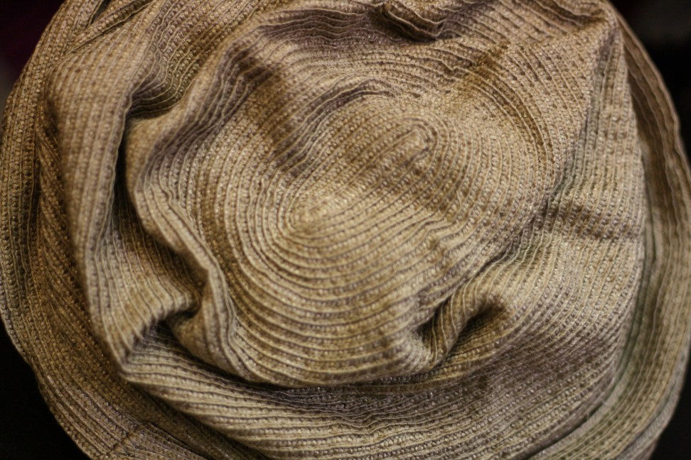 Stropicciato hat in Giuliana Longo's atelier in Venice