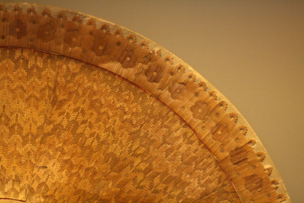 Gilded straw hat at the Correr Museum, Venice