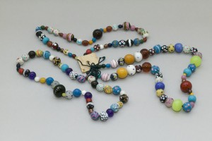 Glass beads in Murano