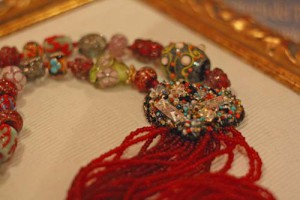 Marisa Convento's necklace in glass beads