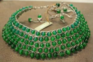 Attombri's necklace with green glass beads