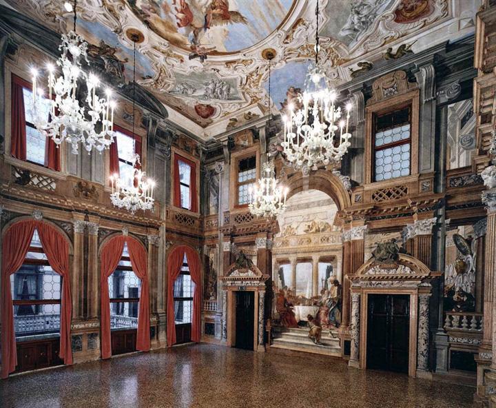 Ballroom in Labia Palace, Venice