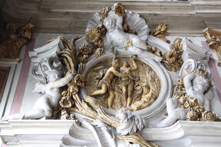 Ballroom in Ca' Zenobio, Venice. Detail.