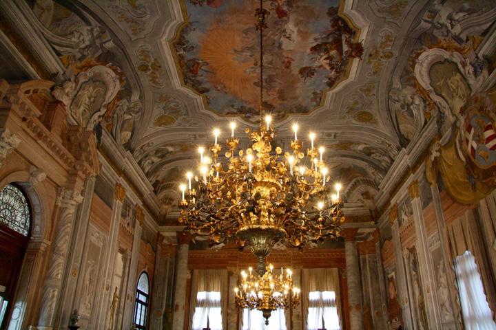 Ballroom in Ca' Rezzonico, Venice