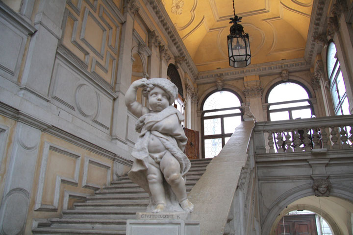 Staircase to the Ballroom in Ca' Rezzonico, Venice