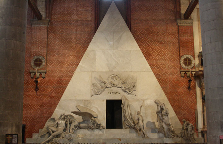 Tomb of Canova at the Frari church in Venice