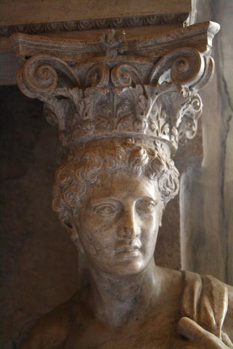Venice, Doge's palace, Bussola Hall, detail