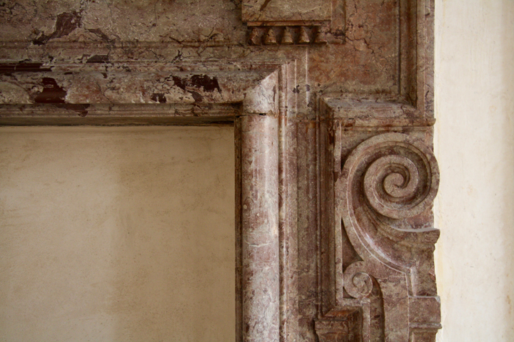 Venice, Grimani Palace, Fireplace in marble
