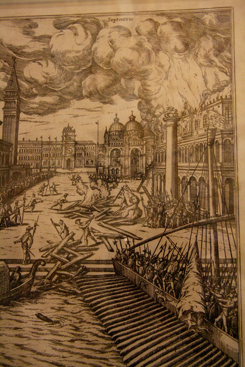 Venice, The doge's palace burning down in 1577