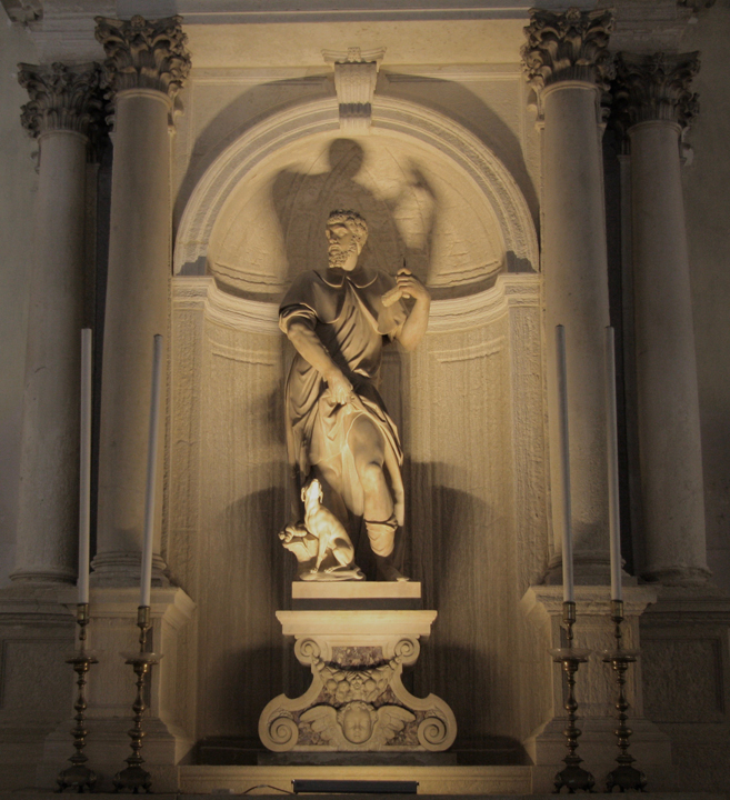 Scuola Grande San Rocco, St Roch and his dog by Gerolamo Campagna