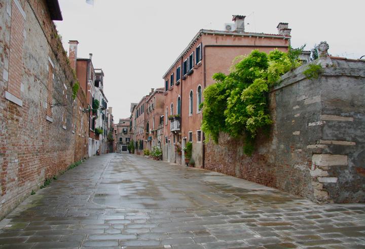 Venice, Dorsoduro: a filled in canal
