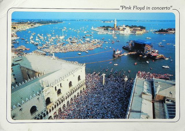 Postcard: Pink Floyd in Concert in Venice, 1989