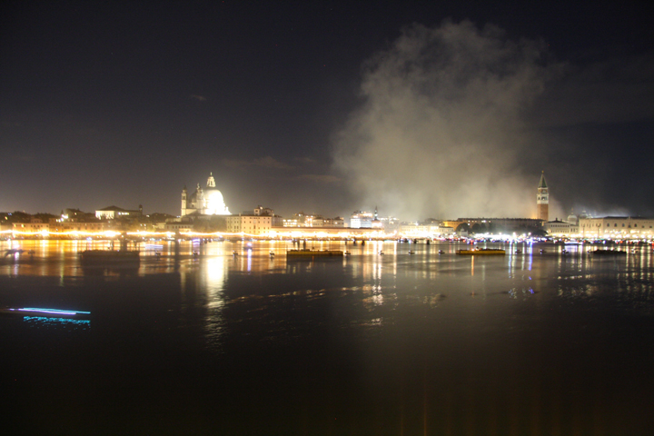 Venice, Redentore and smoke after fireworks