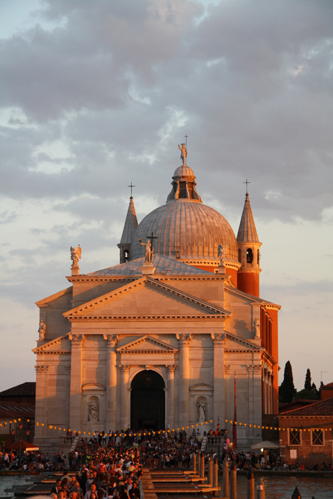 Venice, Redentore church at sunset