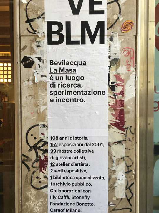 Save BLM - poster, July 2016 in Venice