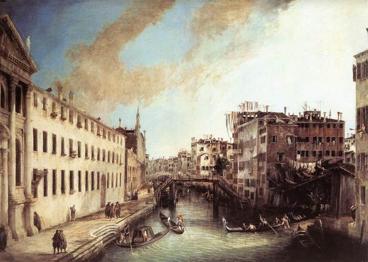 Canaletto, Rio dei Mendicanti, Ca' Rezzonico Venice