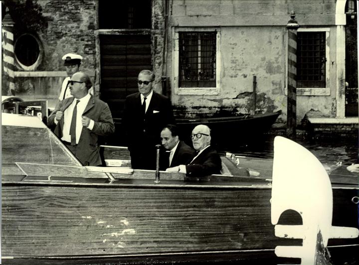 Le Corbusier visting Venice