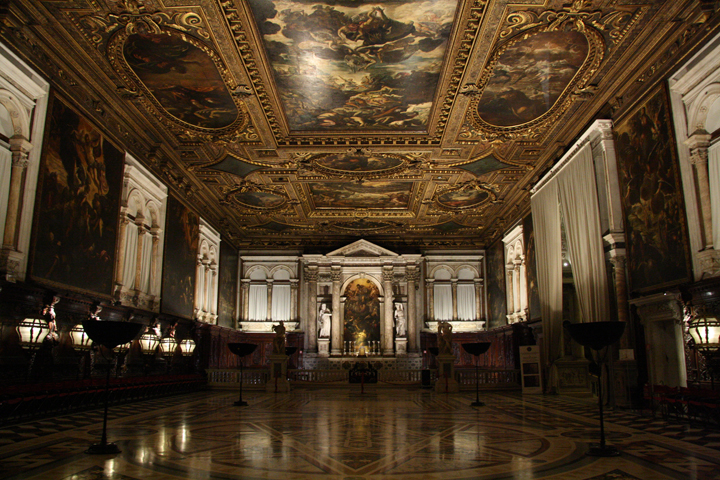 Scuola Grande San Rocco, the Hall upstairs, Venice