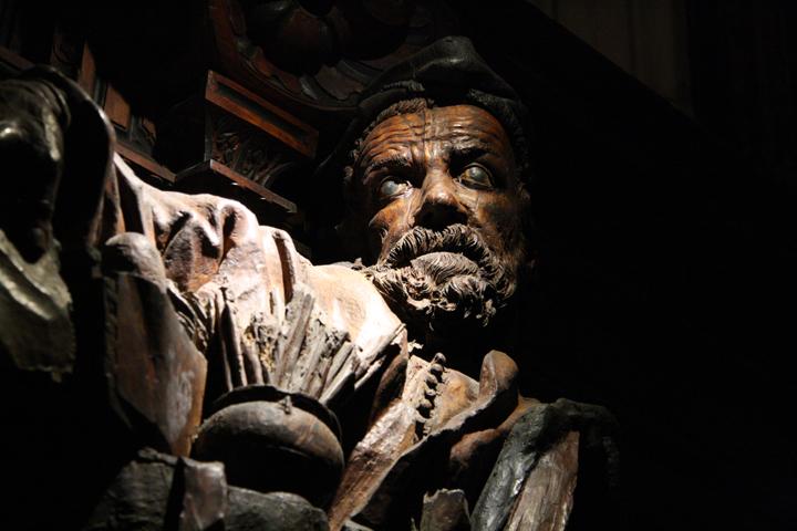 Scuola Grande San Rocco, wooden sculpture by Francesco Pianta, Venice