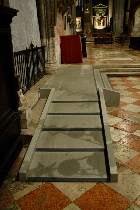 The Frari church, ramp to reach the altar, Venice