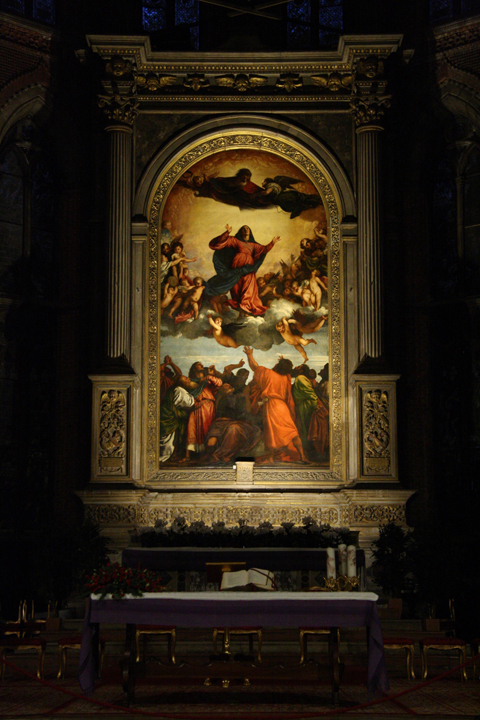 The Frari church, the Assumption of the Virgin Mary by Titian, Venice