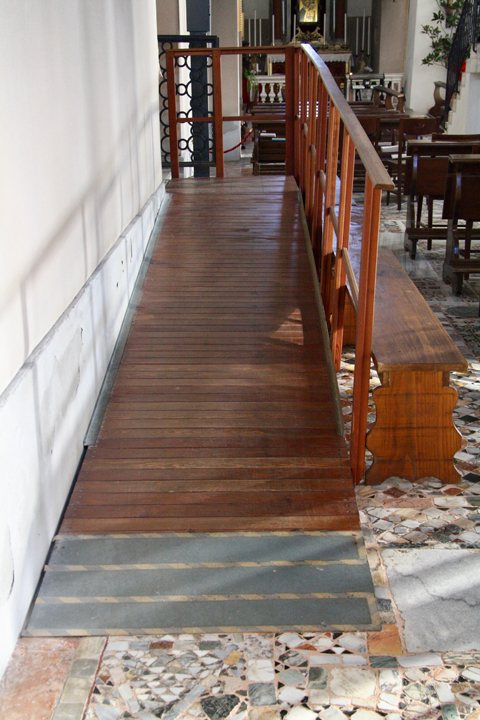 The church of Santa Maria e Donato on the island of Murano, detail of the ramp inside