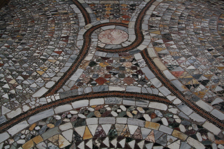 The church of Santa Maria e Donato on the island of Murano, detail of the marble floor