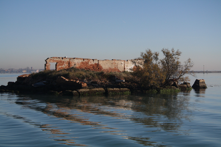 A view of the island of Madonna Del Monte, Venetian Lagoon