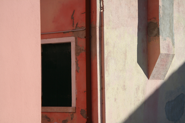 Colors, lines, geometry and shadows on the island of Burano