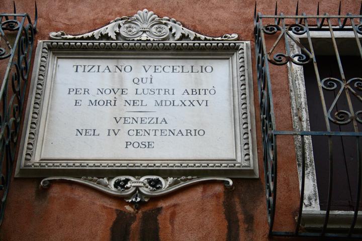 The house of Tiziano Vecellio, Venice