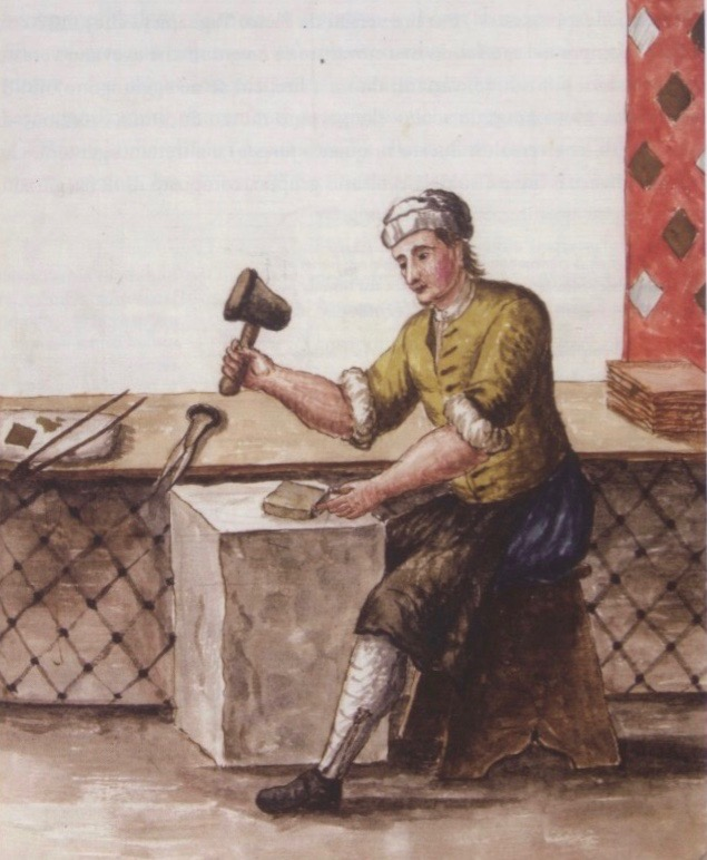 The art of the gold leaf beaters by Giovanni Grevembroch, Gli abiti dei Veneziani