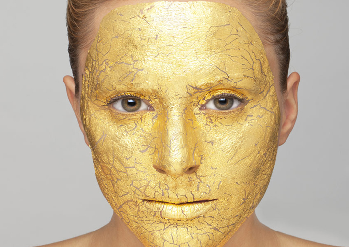 Gold leaf used in the make-up