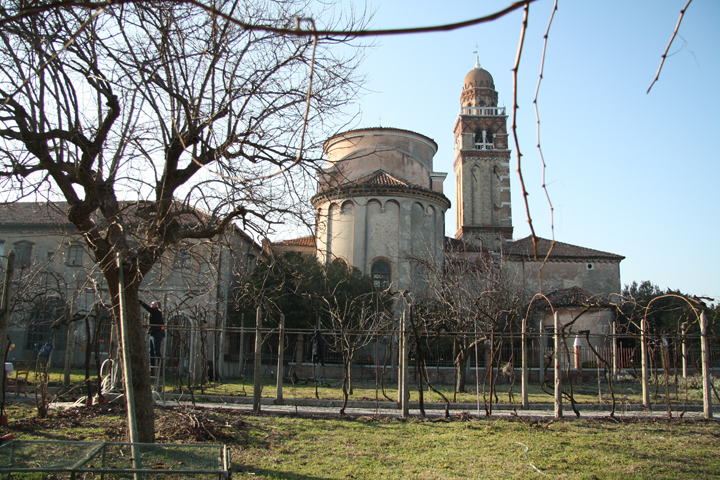 San Michele island in Venice, the vineyards and San Michele church