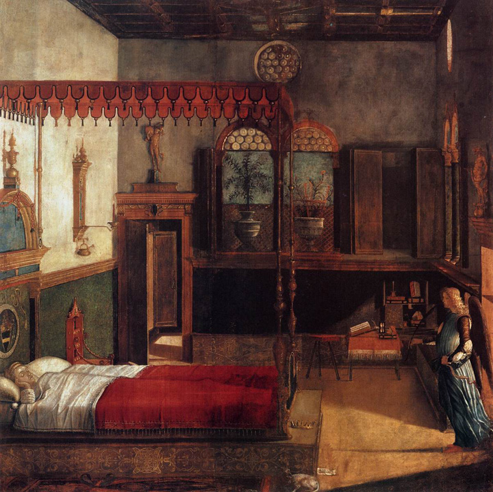 Vittore Carpaccio, The dream of St. Ursula, Accademia Gallery, Venice