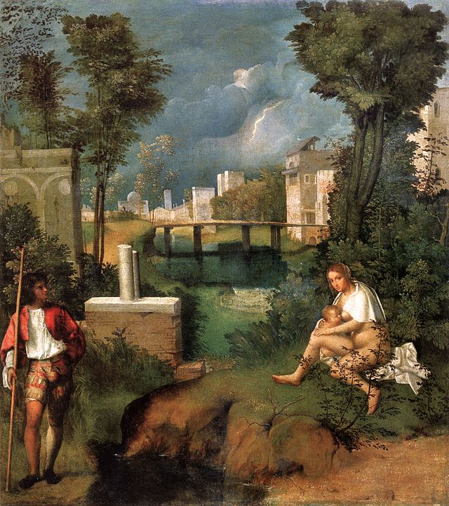 The Tempest by Giorgione, Accademia Art Gallery