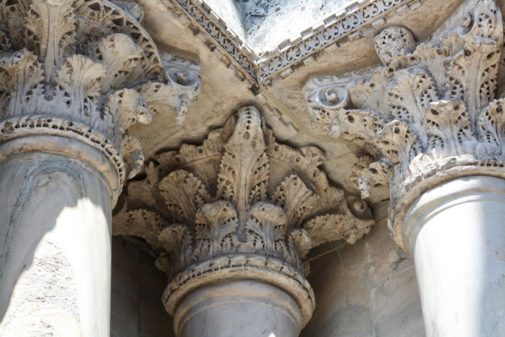 Marble capitals of St. Mark's Basilica Plundered art