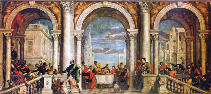 Banquet at the House of Levi by Paolo Veronese, Accademia Gallery, Venice