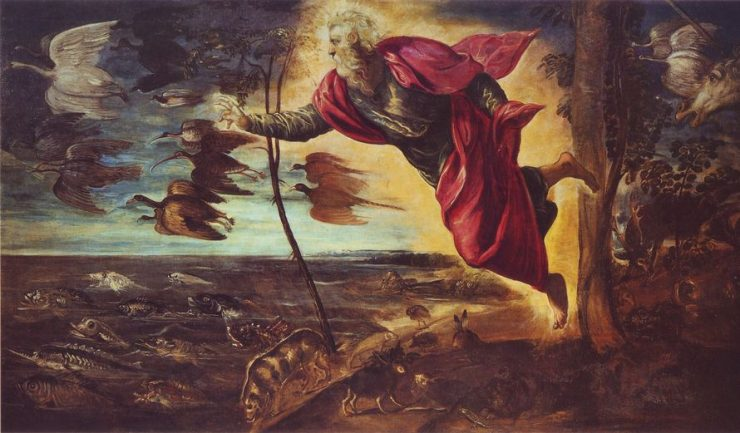 Jacopo Tintoretto, The creation, Accademia Gallery in Venice