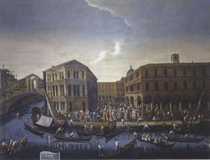 Venice, Querini Stampalia Museum: Gabriel Bella, The Erbaria at Rialto in Venice