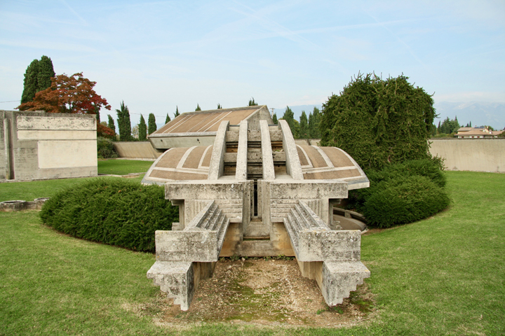 Altivole, Brion Tomb designed by Carlo Scarpa, the arcosolium