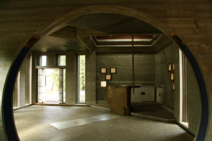 The chapel in Altivole, Brion Tomb designed by Carlo Scarpa, the chapel
