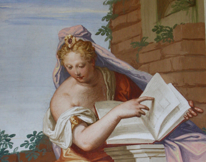 Villa Emo by Andrea Palladio, detail of the Allegory of Architecture by Giambattista Zelotti