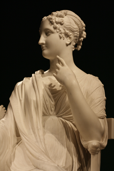 Antonio Canova La musa Polimnia 1812-1817 marmo Vienna, Bundesmobilienverwaltung, Hofburg, Kaiserappartements