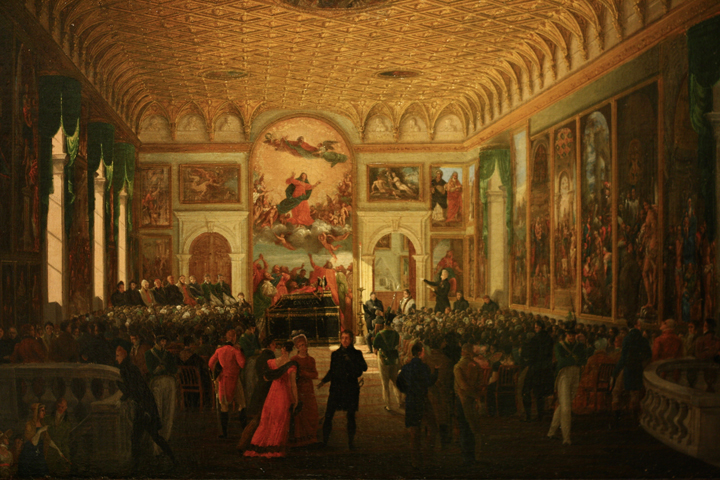 Giuseppe Borsato, Commemoration of Canova, 1824, Venice, Museum of Ca' Pesaro, inv. 1882