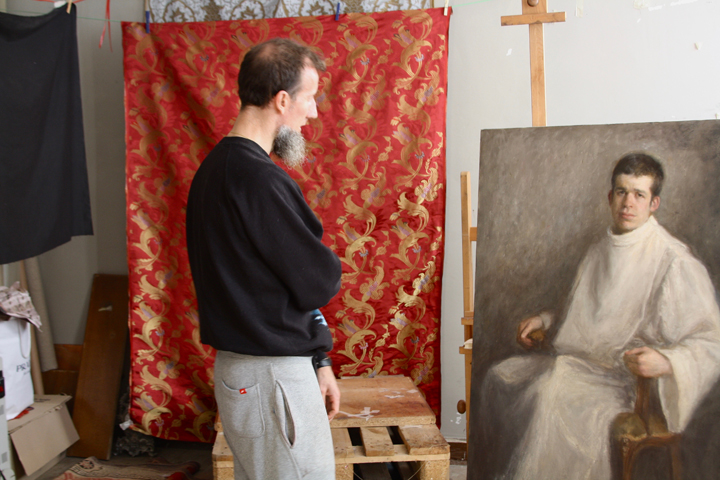 Leonardo D'Este in his studio in Burano