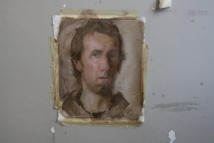 Leonardo D'Este, self-portrait, Burano