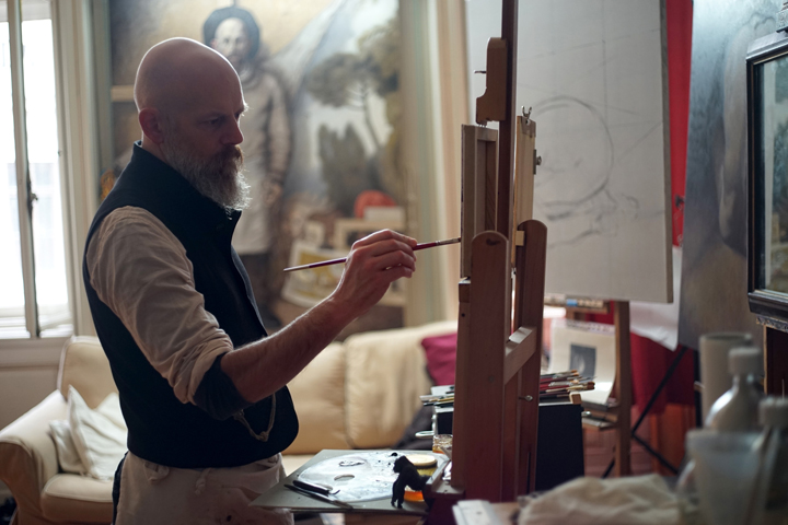 David Dalla Venezia in his atelier