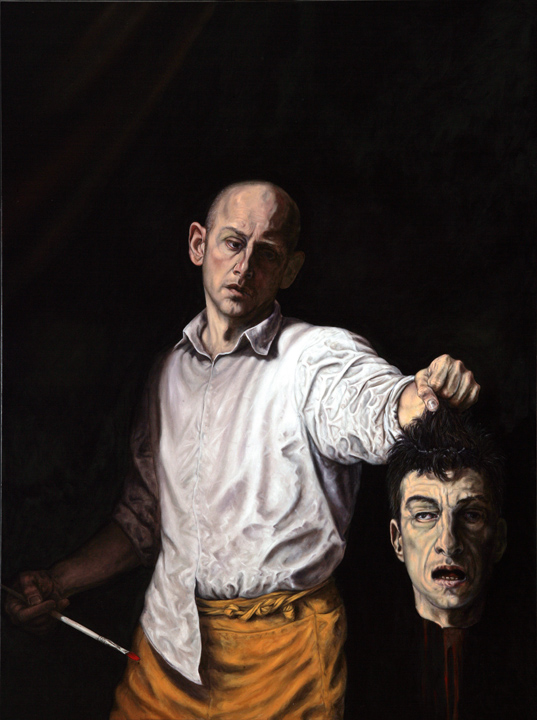 David Dalla Venezia, Who Killed Cattelan?, oil on canvas, 130 x 97 cm, 2007